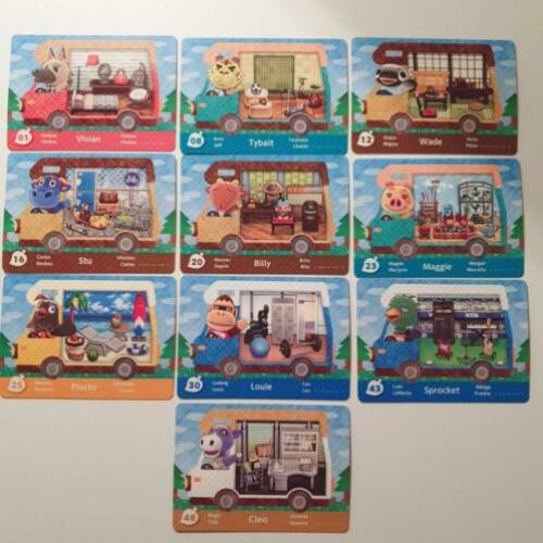 Animal Crossing cards serie 5 & Sanrio + albums